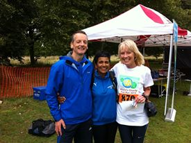 Richard and Ros with Maggie Govender
